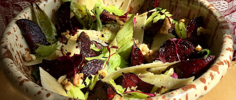 Recipe: Roasted Beetroot & Celery with Old Winchester Cheese & Walnut