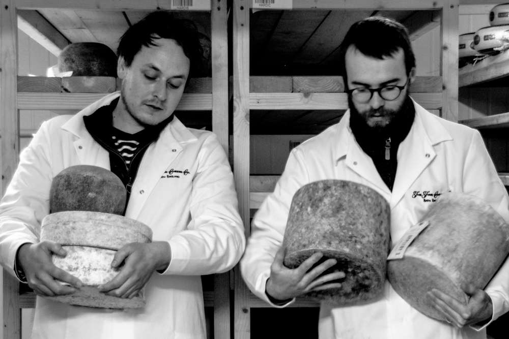 Alex and Ben in the cheese rooms